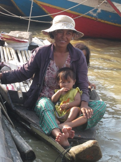 A Mother and her Child on a Boat