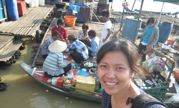 In Front of the Villagers of Floating Village Siem Reap