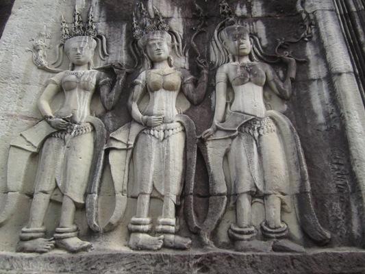 Female Devatas at Angkor Wat