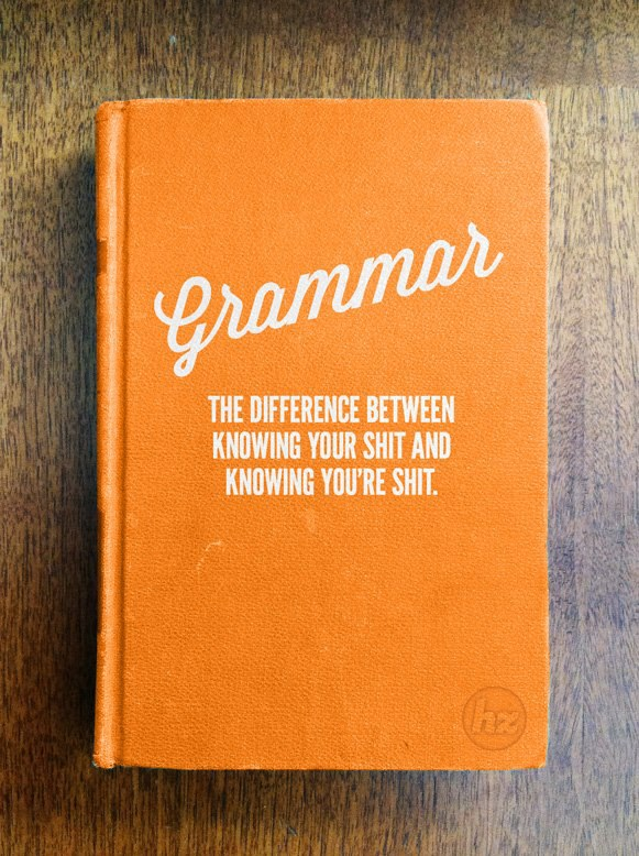 grammar book ;-)