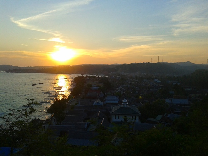 Sunsets at Polewali Mandar, West Sulawesi