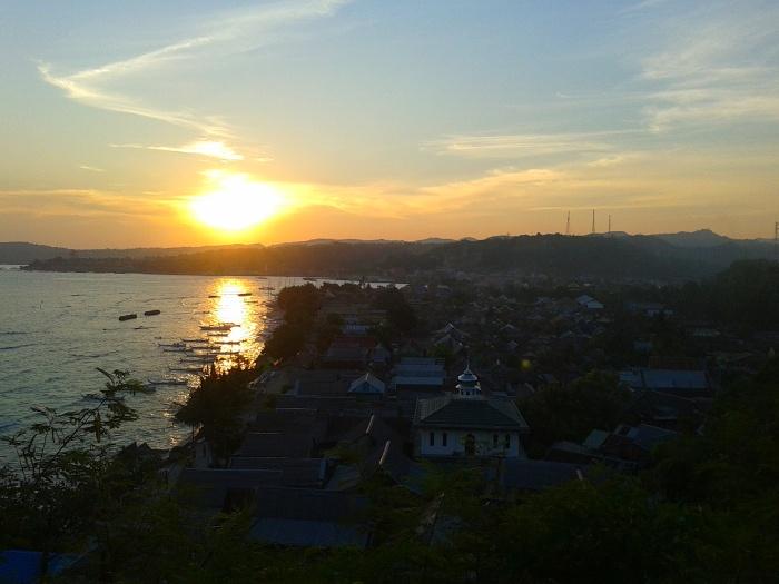 Sunsets at Polewali Mandar, West Sulawesi