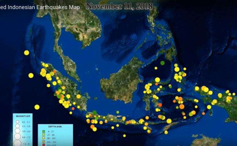 Animated Indonesian Earthquakes Map