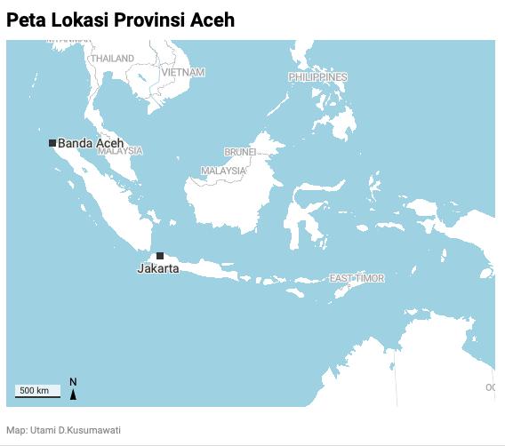 Peta Lokasi Aceh