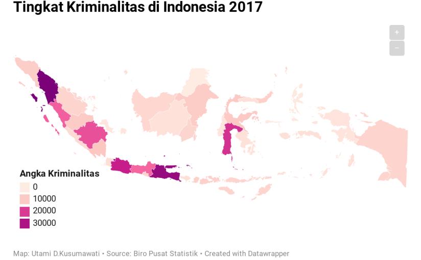Peta Kriminalitas Per Provinsi diIndonesia